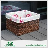 Buy cheap Cheap square lined handmade wicker storage basket from wholesalers
