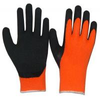 Buy cheap Hi Viz Orange Latex Dip Terry Knit Acrylic Winter Glove2231 from wholesalers