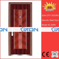 Buy cheap Steel wooden door iron grill window door designs from wholesalers