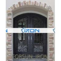 Buy cheap Front Door Iron (697) Wrought iron main entrance door grill design from wholesalers