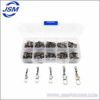 Buy cheap JSM Wholesale stainless steel fishing swivel with interlock clip fishing tackles fishing swivel from wholesalers