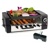 Buy cheap 1200-Watt 2-Tier Grill/Griddle with Automatically Rotating Skewers, Electric Kabob Grill from wholesalers