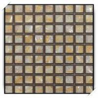 Buy cheap Golen Mother of Pearl Mosaic Wall Tile with Check Pattern from wholesalers