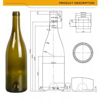 Buy cheap manufacture 750ml capacity glass wine bottles from wholesalers