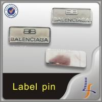 Buy cheap high quality tag pin custom garment accessory metal label pin from wholesalers