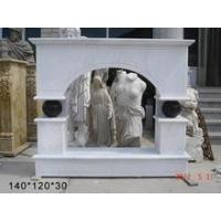 Buy cheap Column fireplace hunan white marble electric fireplace in stock from wholesalers