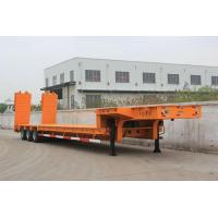 Buy cheap 3 axles gooseneck low bed semi trailer with ramps from wholesalers