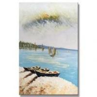 Modern Canvas Natural Village Scenery Art Picture of Painting
