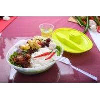 Buy cheap BPA-Free plastic lunch box with fork /plastic food container with lid product