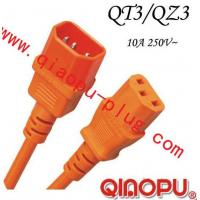 Buy cheap QT3/QZ3IEC extension cord,computer power cord cable,IEC13/IEC14 products plug from wholesalers