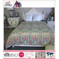 China Printed fitted king size quilt on sale