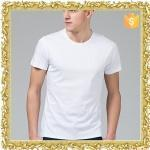 Buy cheap tight fit o neck 100 cotton white blank t shirt for men manufacturer from wholesalers