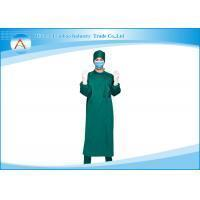 Buy cheap Long Sleeve Cotton Reusable Surgical Gowns , Hospital Patient Gowns from wholesalers