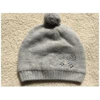 Buy cheap Magid Gray Knit Beanie Hat Pompom And Rhinestone from wholesalers