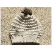 Buy cheap Fur Pompom Crochet Pattern Winter Knit White Hat from wholesalers