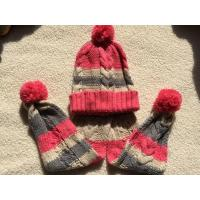 Buy cheap Chunky Cable Knit Hat And Scarf Winter Set With Pompom from wholesalers