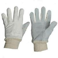 Buy cheap Cheap Price Split Cowhide Lether Palm Knit Glove product