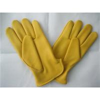 Buy cheap USA Standard Working Waterproof Glove , Leather Driving Gloves Deer Leather Working Glove from wholesalers