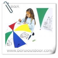 Buy cheap manual open cool kids drawing umbrella from wholesalers