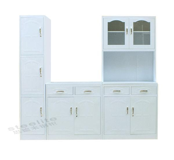 Cbx2 set modern modular white kitchen cupboards 44090285 for Prefab cabinets near me