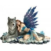 Buy cheap Lupiana and the Wolf Figurine 34cm from wholesalers