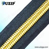 Buy cheap 3 Inch Classic Nylon Coil Zippers with Gold Teeth from wholesalers