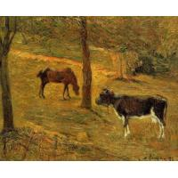 Buy cheap paul gauguin horse and cow in a field paintings for sale from wholesalers