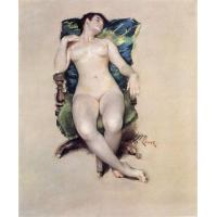 Buy cheap william merritt chase nude resting paintings for sale from wholesalers