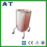Single bag movable waste bin