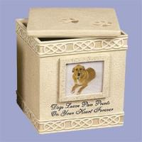 Buy cheap Pet - Dog Paw Prints Box 2 Pet Cremation Urn from wholesalers