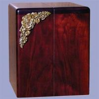 Buy cheap Wood - Companion Rosewood Cremation Urn with Brass Roses from wholesalers