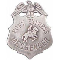 Buy cheap Badge Holders & Wallets Pony Express Messenger Badge from wholesalers