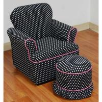 Buy cheap 4D Concepts Kids Plaid Rolled Arm Chair with Ottoman from wholesalers