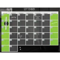 Buy cheap Boards / Easels Black Magnetic Glass Dry Erase Monthly Calendar from wholesalers
