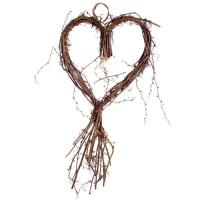 Buy cheap Garlands & Wreaths Gisela Graham Natural Twig Sweet Heart Wreath - 33 X 72cm from wholesalers