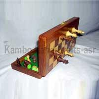 Buy cheap Wooden Products Magnetic Chess Boards from wholesalers