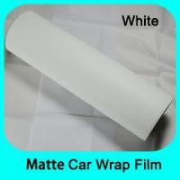 Buy cheap Matte/Glossy Car Wrap Matt white vinyl car wraps film with removable glue Mate Negro Vinilos from wholesalers
