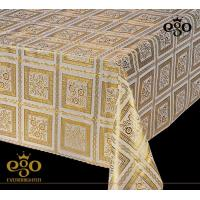 Buy cheap Exquisite Living Product Description: Lace Tablecloth Gold or Silver Finishing from wholesalers