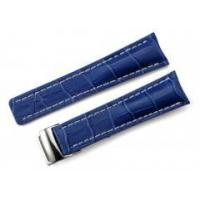 Buy cheap 24/20mm Cowided Genuine Leather Blue Watch Band Straps w/ Buckle for Breitling from wholesalers