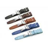 Buy cheap 22mm Croco Grain Genuine Leather Watch Band Rivet Deployant Strap For IWC Big Pilot from wholesalers