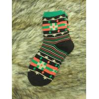 Buy cheap - Socks Black Orange And Green Fair Isle Long Socks from wholesalers