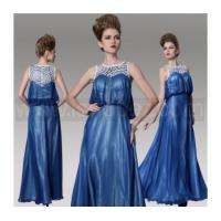 Buy cheap Dark Blue A-Line Plus Size Mother Of Bride Dress, Floor Length Evening dress from wholesalers