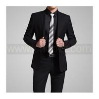 Buy cheap Men's Business Pure Long Sleeve Blazer Two-button Suit Sets Blazer+Pants (Polyester) from wholesalers