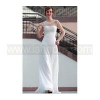 Buy cheap Sexy Lace Floor Length White Semi Formal Dress from wholesalers