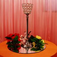 Buy cheap Zhong Fa new design crystal bead candle holder K9 crystal bead vase candlestick candle holder from wholesalers