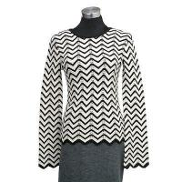 China 7gg computer knit long sleeves pullover allover stripe on sale