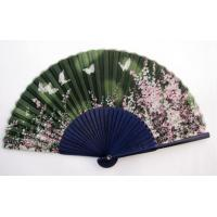 Buy cheap Gift Hand Fan high quality real silk fan with assorted designs from wholesalers