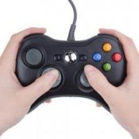Wired Controller for XBOX360 Spiel USB GAMEPAD Joypad Joystick in Schwarz