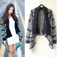 Buy cheap Women Open front cardigan poncho sweater from wholesalers