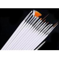 Buy cheap 15pcs Nail Cleaning Brushes With Thick Handle For Acrylic Art White Color from wholesalers